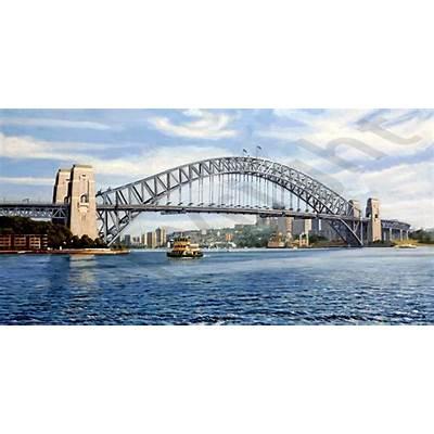 Sydney Harbour Bridge - Steve Leadenham Transport Art