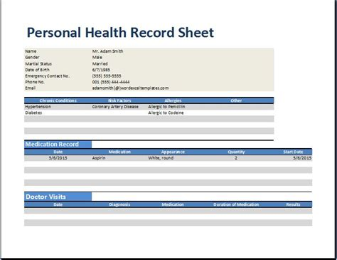 medical record templates business form letter template