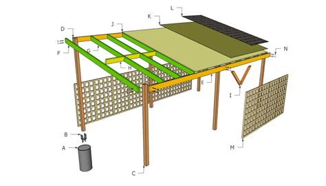Carport Post Anchors by Wooden Carport Plans Howtospecialist How To Build