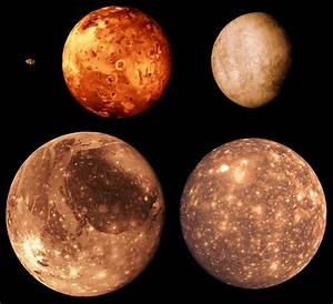 The innermost of these four moons is Io, and its surface ...