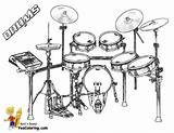 Coloring Pages Musical Drum Drums Kit Yescoloring Instruments Percussion Orchestra Electronic Colouring Sets Printable Boys Kits Sheets Treasure Chest Bass sketch template