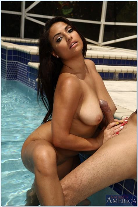 Exotic Looking Babe Rikki Nyx By The Pool   MILF Fox