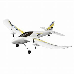 Hobbyzone Duet Micro Rc Plane 2 4ghz Beginner Trainer Ready To Fly Hbz5300