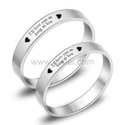 engagement ring sets for him and engraved titanium matching promise eternity rings set for 2 personalized couples gifts