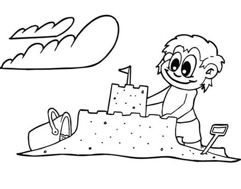 Coloring Sand by Creative Sand Castle Coloring Page Print