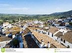 Roofs White Town In The Mountain Stock Photo - Image of ...