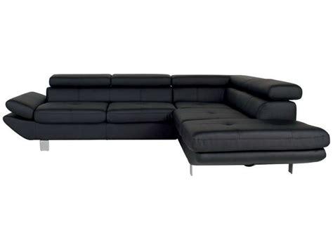canapé d angle cuir noir canapé d 39 angle fixe droit 5 places loft coloris noir en pu vente de canapé d 39 angle conforama