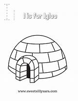 Igloo Coloring Letter sketch template