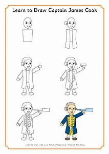 Learn To Draw Captain Cook