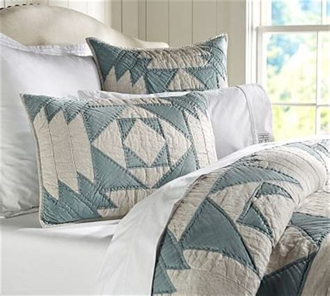 Pottery Barn Coverlets by Linen Silk Patchwork Quilt King Cal King Traditional