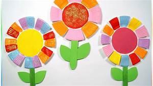 Blumen Basteln Kinder : bunte pappteller blumen zum muttertag basteln mit kindern youtube ~ Frokenaadalensverden.com Haus und Dekorationen