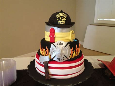 firefighter grooms cake   mallory gray  cakes