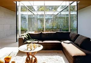 Wohnzimmertür Mit Glas : einrichten offenes wohnzimmer mit glas putz und stein bild 24 sch ner wohnen ~ Watch28wear.com Haus und Dekorationen