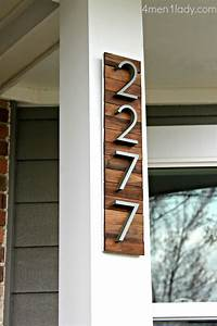 image gallery home address numbers With modern house letters