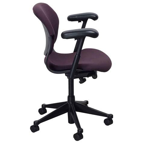 herman miller equa 2 used low back task chair plum