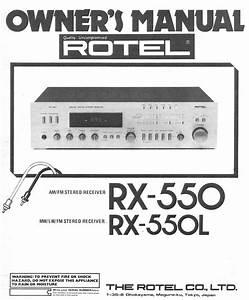 Rx-550l Manuals