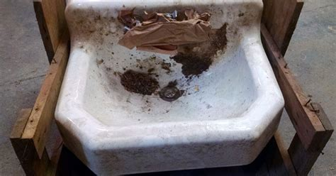 How To Clean And Remove Stains From An Old Cast Iron Sink