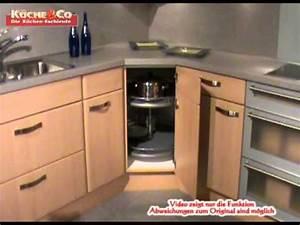 Kucheco eckunterschrank mit drehkarussellwmv youtube for Küche drehkarussell