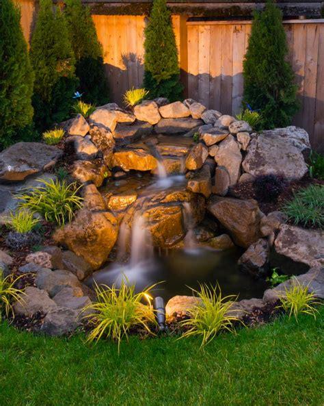 waterfalls backyard 75 relaxing garden and backyard waterfalls digsdigs