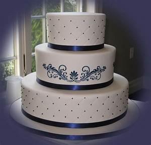 Beautiful Bridal: Navy Blue Wedding Cakes