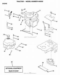 Ayp  Electrolux 440500  1996  Parts Diagram For Engine