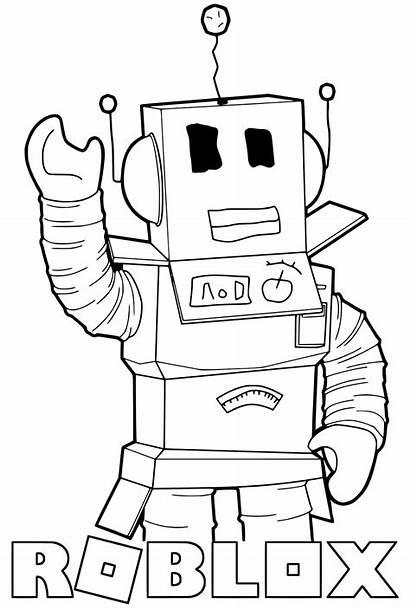 Roblox Coloring Pages Noob Printable Robot Destiny