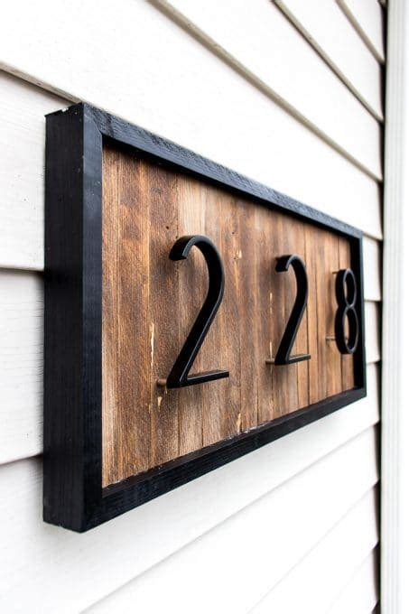 diy modern house number sign  wood shims