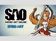 Asuna Yuuki SWORD ART ONLINE SPEED ART con EDD00CHAN