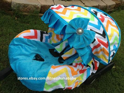 Baby Rainbow/blue Infant Car Seat Cover Canopy Cover Fit