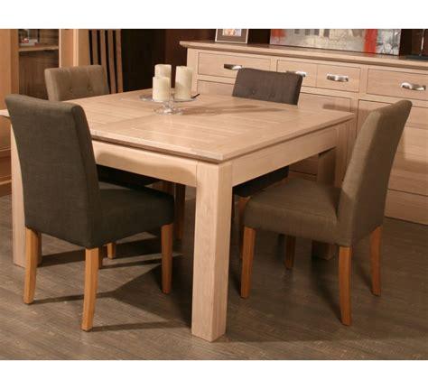 table de cuisine carree table carree avec allonge chêne massif quot stockholm naturel