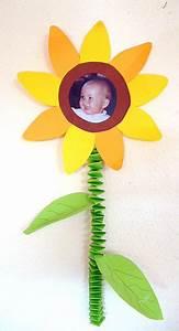 Geschenke Für Oma Basteln : sonnenblume mit kinderfoto muttertag basteln meine enkel und ich made with ~ One.caynefoto.club Haus und Dekorationen