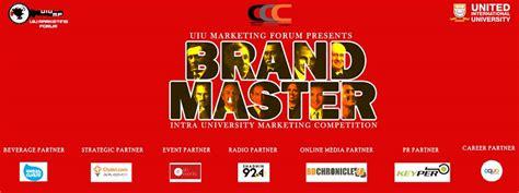 uiu marketing forum presents brand master intra university marketing