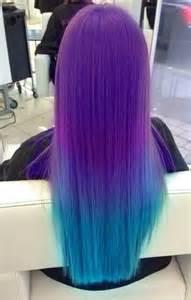 Galaxy Purple Ombre Hair