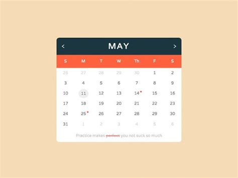 html calendar templates html psd css