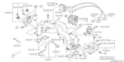Subaru Intake Manifold Diagram by 14030aa070 Genuine Subaru Prot Complete Intake Manifold