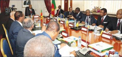 cameroun conseil de cabinet le gouvernement veut former