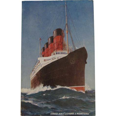 cunard rms lusitania mauretania postcard