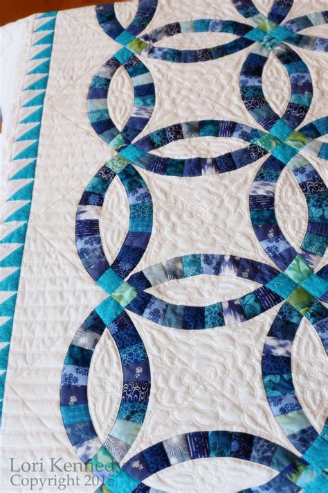 How long to quilt a quilt? Double Wedding Ring Quilt   The Inbox Jaunt