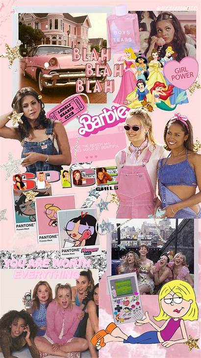 90s Iphone Girly Friends Aesthetic Collage Wallpapers