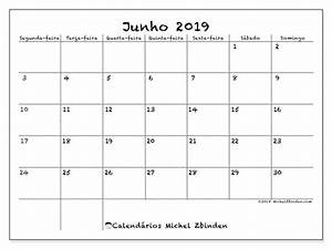 Calendários junho de 2019 SD