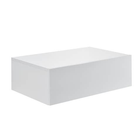 lade speciali en casa 174 2 x mensola da parete con cassetto bianco