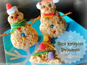 Christmas Rice Krispy Treats Snowman