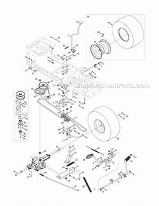 Troy Bilt Bronco Riding Mower Belt Diagram