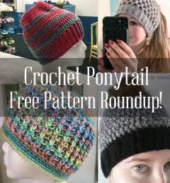 Messy Bun Ponytail Hat Crochet Pattern Free