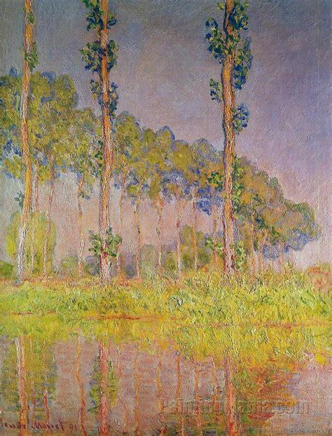 Poplars in Spring - Claude Monet Paintings