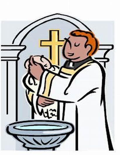 Baptism Clipart Priest Sacrament Holy Clip Catholic