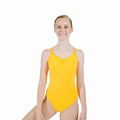 Leotard Yellow Lycra Camisole Cotton Ballet Bodysuit