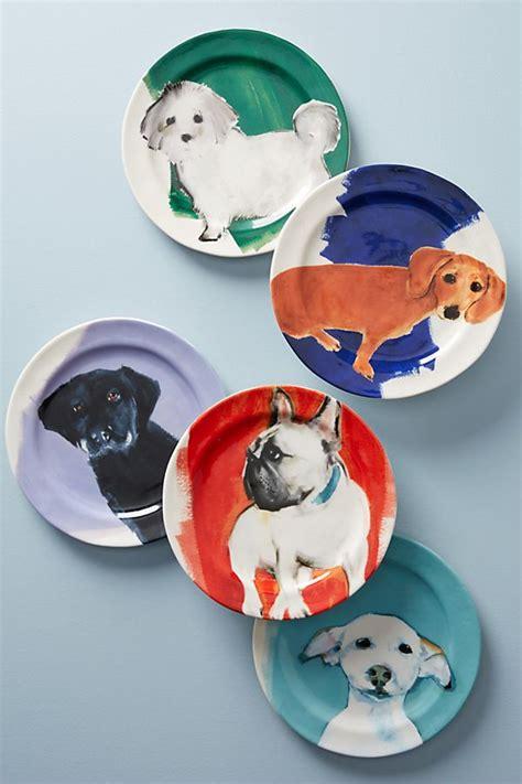 dog  day dessert plate anthropologie