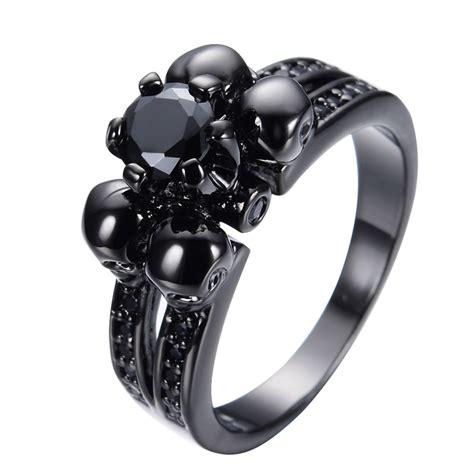 mens skull wedding rings