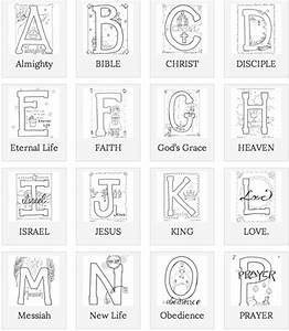 free alphabet coloring pages beautifully illustrated With bible alphabet letters